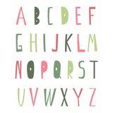 Alfabeto único rústico foto de archivo