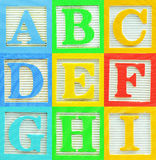 Alfabeto (1) Imagens de Stock Royalty Free