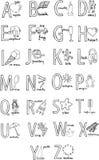 Alfabeto ilustração stock