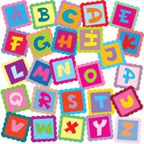 Alfabeto Fotografia de Stock Royalty Free