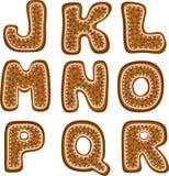 Alfabeto 2 del pan di zenzero Fotografia Stock Libera da Diritti