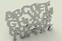 alfabeto 3d Fotografía de archivo