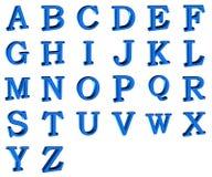 alfabeto 3d Imagen de archivo