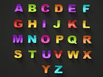 alfabeto 3d illustrazione vettoriale