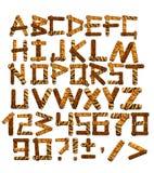 alfabeto 3d nello stile di un safari Fotografia Stock Libera da Diritti