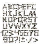 alfabeto 3d nello stile di un safari Fotografie Stock