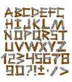 alfabeto 3d nello stile di un safari Fotografie Stock Libere da Diritti