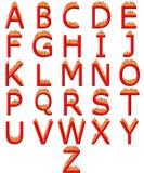 alfabeto 3D no incêndio Fotografia de Stock