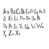 Alfabeto Fotografia de Stock