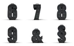 Alfabeto 6 do amplificador 7 8 seção de 9 ampersand Imagem de Stock Royalty Free