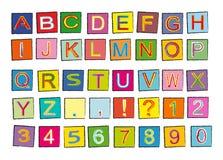 Alfabeto Imagens de Stock Royalty Free