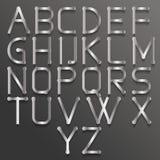 Alfabeto abstracto con el partido Imagen de archivo libre de regalías