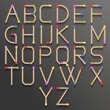 Alfabeto abstracto con el partido Imágenes de archivo libres de regalías