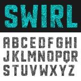 Alfabeto abstracto del remolino Imagenes de archivo