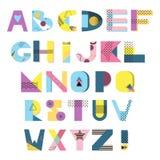 Alfabeto abstracto del vector Fotografía de archivo libre de regalías