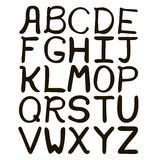 Alfabeto abstracto dibujado mano blanco y negro Foto de archivo