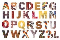 Alfabeto abstrato impressionante! ilustração royalty free
