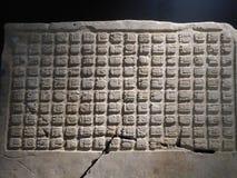 Alfabeto acient del arte del maya de México de la escritura mayian fotos de archivo libres de regalías