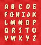 Alfabeto agradable de la historieta Imagen de archivo