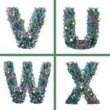 Alfabeto agradable de la Navidad Imagen de archivo libre de regalías