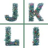 Alfabeto agradável do Natal Imagem de Stock Royalty Free