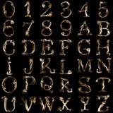 Alfabeto ahumado Imágenes de archivo libres de regalías
