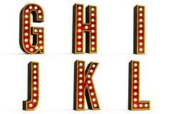 Alfabeto ajustado - parte 2 Imagens de Stock Royalty Free