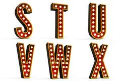 Alfabeto ajustado - parte 4 Imagens de Stock