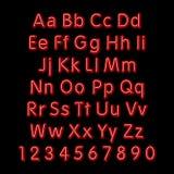 Alfabeto al neon di incandescenza Vettore progetti, faccia festa, retro, 3d, l'arte, fonte, Fotografia Stock