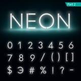 Alfabeto al neon Fonte d'ardore, parte 2 Fotografie Stock Libere da Diritti