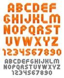 Alfabeto alaranjado das fitas Imagens de Stock