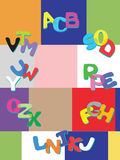 Alfabeto allegro Fotografia Stock