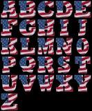 Alfabeto americano Fotos de archivo libres de regalías
