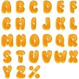 Alfabeto anaranjado de la fruta. Foto de archivo