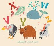 Alfabeto & animais, parte 5 Foto de Stock