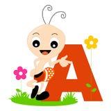 Alfabeto animal - A Imágenes de archivo libres de regalías