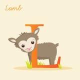 Alfabeto animal con el cordero Imágenes de archivo libres de regalías