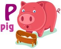 Alfabeto animal P stock de ilustración
