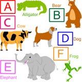 Alfabeto animal, parte 1 de 4 Foto de Stock Royalty Free