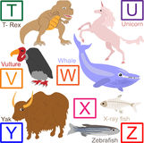 Alfabeto animal, parte 4 de 4 Foto de Stock