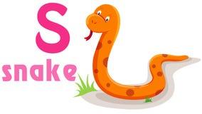 Alfabeto animal S Imagem de Stock