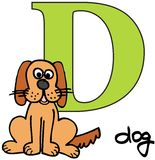 Alfabeto animale D (cane) Fotografia Stock