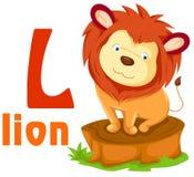 Alfabeto animale L royalty illustrazione gratis