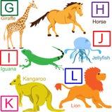 Alfabeto animale, parte 2 di 4 Immagini Stock