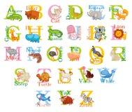 Alfabeto animale sveglio Fotografia Stock
