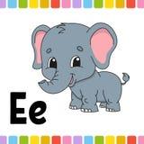Alfabeto animale Zoo ABC Animali svegli del fumetto isolati su fondo bianco Per istruzione dei bambini Apprendimento delle letter illustrazione di stock