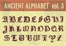 Alfabeto antigo Fotos de Stock Royalty Free