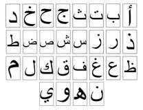 Alfabeto arabo orizzontale Fotografie Stock