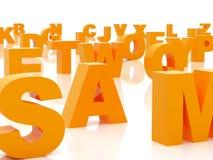 Alfabeto arancione Fotografie Stock