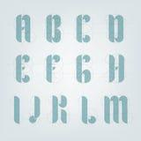 Alfabeto architettonico dell'aereo del disegno Fotografie Stock Libere da Diritti